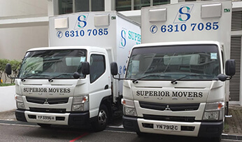 Lorry transportation ready to be deployed